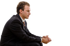 Businessman thinking Royalty Free Stock Image