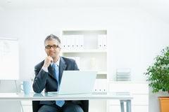 Businessman thinking Stock Photo