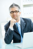 Businessman thinking Stock Photography