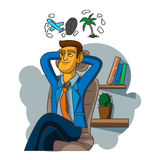 businessman thinking Στοκ Εικόνες