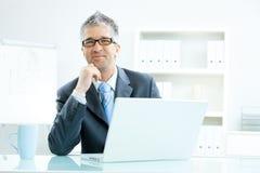 Businessman thinking Royalty Free Stock Images