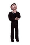 Businessman Thinking. A clay model of a businessman thinking Stock Photography