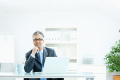 Businessman thinking Royalty Free Stock Photos