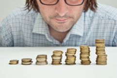 Free Businessman Thinking About Invesments Royalty Free Stock Photos - 24250788