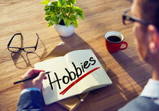 Free Businessman Thinking About Word Hobbies Stock Image - 45075831