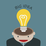 Businessman Thinking Big Idea Royalty Free Stock Photos