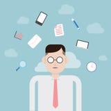 Businessman Thinking royalty free illustration