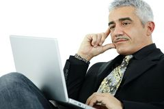 Businessman thinking Royalty Free Stock Photo