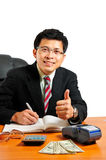 Businessman on thinking concept idea Stock Photo