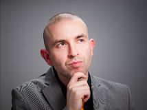Businessman thinking Stock Photography