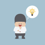 Businessman thinking and have a great idea Royalty Free Stock Photo