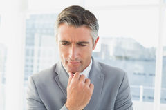 Businessman thinking about his work Royalty Free Stock Photo
