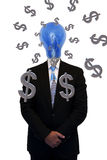 Businessman thinking about how to make money Stock Images