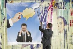 Businessman thinking Stock Images