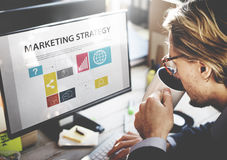 Businessman Thinking Planning Working Marketing Strategy Concept Royalty Free Stock Images