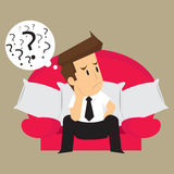 Businessman thinking, problem-solving Stock Images