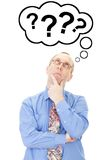 Businessman thinking about question Royalty Free Stock Photo