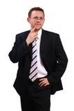 Businessman thinking about something. Studio shot Stock Image