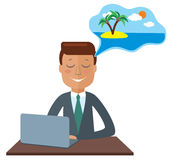 Businessman thinking about vacation Royalty Free Stock Photography