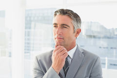 Businessman thinking about work Stock Photos