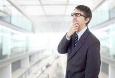 Businessman thinking Royalty Free Stock Image