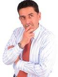 Businessman thinks Royalty Free Stock Image