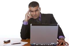 Businessman thinks about problem Stock Photos