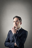 Businessman with a thoughtful face Stock Images
