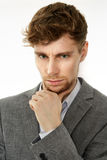Businessman in thoughts Royalty Free Stock Photos