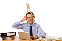 Businessman -  thoughts of suicide Stock Image