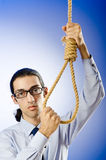 Businessman - thoughts of suicide Royalty Free Stock Image