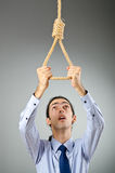 Businessman -  thoughts of suicide Stock Photo