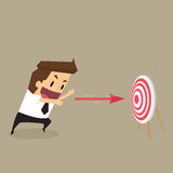Businessman throw arrow on target Royalty Free Stock Image
