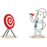 Businessman throwing dart Stock Photos