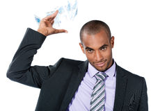 Businessman throwing money Stock Image