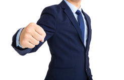 Businessman throwing punch Stock Image
