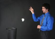 Businessman throwing trash Stock Image