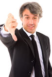 Businessman with thumb down Royalty Free Stock Images