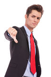 Businessman with thumb down Stock Image