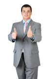 Businessman thumb up Royalty Free Stock Photos