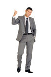 Businessman with thumb up Stock Images