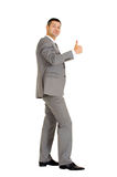 Businessman with thumb up Royalty Free Stock Photos