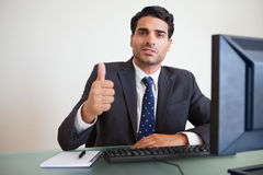 Businessman with the thumb up Royalty Free Stock Photo