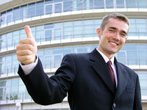 Businessman With Thumb Up Royalty Free Stock Photo