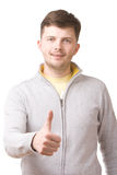 Businessman with thumb up. Portrait of a businessman with thumb up Stock Images