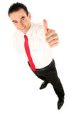 Businessman With Thumb Up. Young Businessman With Thumb Up Royalty Free Stock Photo