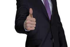 Businessman thumb up Stock Image