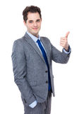 Businessman with thumb up Royalty Free Stock Image