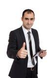 Businessman thumb up Royalty Free Stock Photos