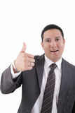 Businessman with thumb up Stock Photos